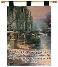 The Hour of Prayer Willow Tapestry Wall Hanging w/Verse ~ Artist, Thomas Kinkade