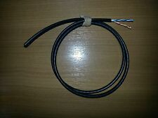 15m Genuine Black EXTERNAL 2 pair 4 wire Telephone Cable BT Spec CW1412 Powdered