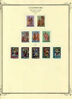Luxembourg stamps (only) from 1971 & 1972, all MHOG VVF - XF, 2 sets
