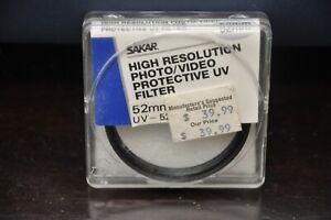 Sakar UV 52mm Protective Filter - Item # UV-52CL NEW!