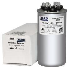 60 + 10 uf MFD 370 VAC Round Dual Capacitor 12865 Replaces 27L389 27L389BX