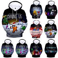 Silver Basic Kids Girls Among Us 2D Printed Hoodie Long Sleeve Sweatshirt Sportswear Jumper Impostor Cosplay Costume
