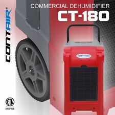 Contair® CT-180 XL Commercial Grade Dehumidifier Humidity Control ETL Red Color