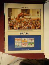 BRAZIL 1905-1910 11 X 13 PHILATELIC POSTER OLYMPICS POLE VAULT