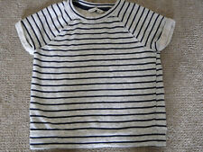 Womens Abercrombie & Fitch Nautical sweatshirt Short Sleeves Heavier Weight  NEW