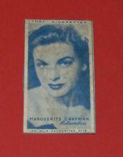 CINEMA 1948 TURF CIGARETTES CARD FILM FAVOURITES MARGUERITE CHAPMAN COLUMBIA