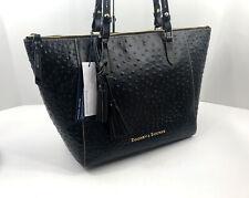 Dooney & Bourke Ostrich Embossed Leather Maxine Tote /shoulder Bag in Black