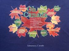 XL blue OH CANADA ANTHEM t-shirt by FRUIT OF THE LOOM
