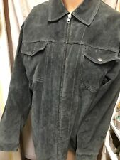 Epidemic Men's Large Suede Leather Coat