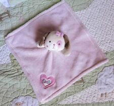 Baby Gear Polyester Plush Pink Puppy Dog Heart Bow Baby Girl Security Blanket Eu