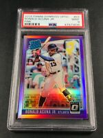 RONALD ACUNA JR 2018 PANINI DONRUSS OPTIC #63 PINK PRIZM ROOKIE RC PSA 9 BRAVES