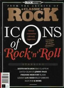 CLASSIC ROCK MAGAZINE - ICONS OF ROCK N' ROLL (CLAPTON, PAGE, RICHARDS, GILMOUR)