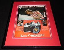 Ben Crenshaw 1979 Canon AE1 Camera Framed 11x14 ORIGINAL Vintage Advertisement