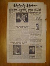 MELODY MAKER 1949 NOV 5 BENNY GOODMAN BARNET BANDS JAZZ