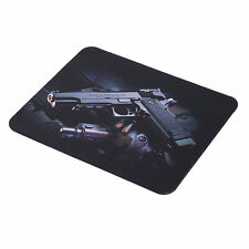 Gun Picture Anti-Slip Laptop PC Mice Pad Mat Mousepad For Optical Laser Mouse FO