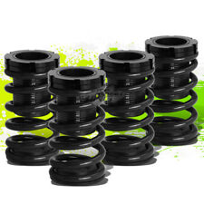 """FOR 01-05 CIVIC EM2 ES FRONT+REAR RACING COILOVER 1-3""""LOWERING COIL SPRING BLACK"""