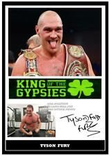 249. tyson fury boxing signed a4 print great gift