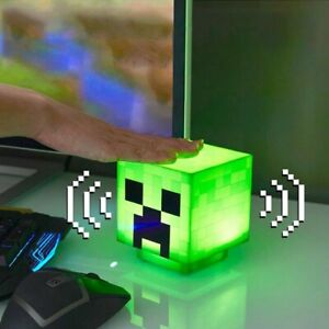 Minecraft Creeper Light BDP Pixelated Makes Creeper Sound Green Cube Light