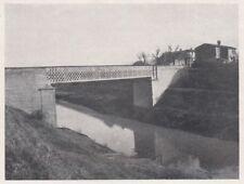 D6752 Val di Chiana - Il Ponte ai Ponti - Stampa d'epoca - 1930 vintage print