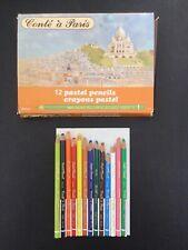 13 Pastel Pencils Crayons Conté à Paris France Art Supplies Vintage Pretty
