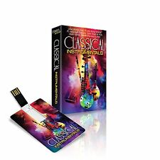 CLASSICAL INSTRUMENTAL USB MUSIC CARD / OVER 7 HRS OF MUSIC / PLAYS ON ALL USB