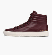 Common Projects Achilles Premium High Burgundy, sizes 38, 39 & 40 - BNWB, £340.
