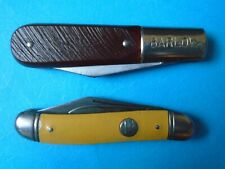 VINTAGE LOT (2) IMPERIAL AND BARLOW 2 BLADE KNIVES USA