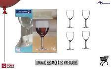 Luminarc Elegance 4 Red Wine Glasses 350ml France High End