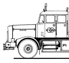 Scammell Contractor Mk.2 Wynns, 1/50  scaledrawing by JF van der Touw (A044)