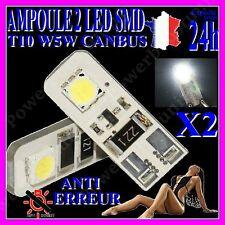 2 AMPOULE LAMPE FEU 2 LED T10 W5W SMD XENON INTERIEUR EXTERIEUR AUTO MOTO BATEAU