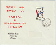 """BAHRAIN - """" F.P.O. / 186 """" ON 1970 WORLD CUP COVER"""
