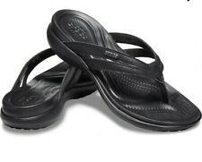 NEW Crocs Black Capri Basic Strappy Flip Flop Sandals Size 10 NWT
