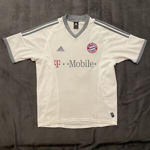 FC Bayern Adidas retro Trikot 2002 weiß Größe M