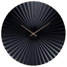 Wanduhr Sensu Stahl schwarz Design Uhr Quarzuhr geräuscharm Wohnzimmer 40 cm