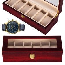 Holz Uhrenbox Uhrenkoffer Schmuckkästchen Uhrentruhe Uhrenkasten Uhrenschatulle