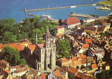 AK, Konstanz am Bodensee, Teilansicht mit Hafen, Luftbild, um 1978