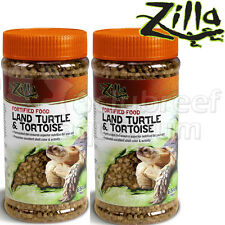 (2) Zilla Fortified Land Turtle & Tortoise Food 6.5oz Reptile Terrarium 2 Pack