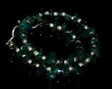 Beau Bracelet en argent massif, vrais solide Opale Ethiopia