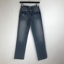 """7 For All Mankind Jeans """"A"""" Pocket Straight Distressed Tag Size 25 (24x33) #5708"""