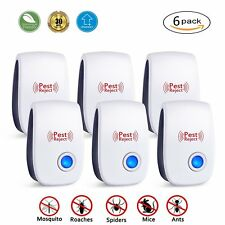6x Ultrasonic Electronic Anti Mosquito Pest Bug Insect Cockroach Repeller Reject