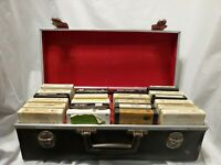 Lot of 22 Various 8 Track Tapes and Vintage Carrying Case Holds 24 Faux Leather