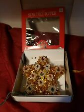 Vintage Collectible Christmas Lighted Gold Tree Tropper Tinsel Star 6 In 00004000