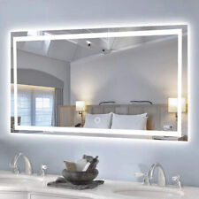 Large Modern Bathroom Mirror with Led light Demister Wall Mounted Touch Sensor