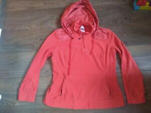 THE NORTH FACE HOODIE WOMENS POLARTEC CLASSIC FLEECE 1/4 ZIP SIZE L/G