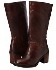 Fly London Women's ALEF352FLY High Boots Brown Cognac Size UK 5