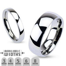 5mm Glossy Mirror Polished Traditional Wedding Band Ring 316L Stainless Steel