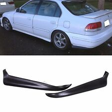 Fit for 96-98 Honda Civic Rear Bumper Lip 2Dr 4 DR 2PC PU Material Valance Spats
