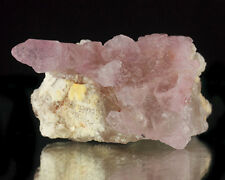 "2.8"" Gemmy Pale Pink ROSE QUARTZ Elestial Crystals on Matrix Brazil for sale"