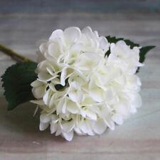 6 Heads Artificial Hydrangea Silk Fake Flowers Wedding Accessories Home Decor N