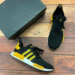 adidas Men's NMD-R1 Black/Yellow Running Shoes FY9382